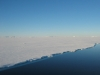 long and bright Ross Antarctic ice shelf