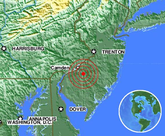 earthequake New Jersey loud booms
