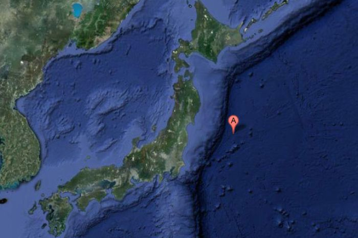 Epicenter of 7.3 Earthquake that trgerred a 1m-high tsunami, 7 December 2012
