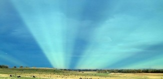 rare sky phenomenon, ske phenomenon, antcrepuscular rays, Boulder Colorado, pictures of anticrepuscular rays