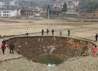 sinkhole, sinkholes, china, Lianyuan, coal mines, coal