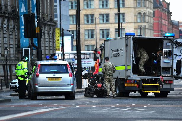 fake explosion scare in Manchester city, UK
