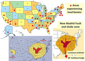 mystery booms map, mystery booms map explanation, mystery booms earthquake link, loud boom map, loud booms and rumblings map