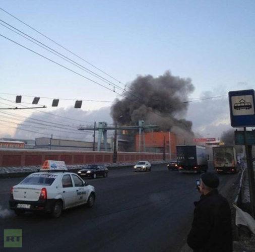 meteorite explosion in Russia. Siberia february 15 2013
