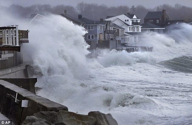 wild ocean, huge waves, east coast usa - march 2013
