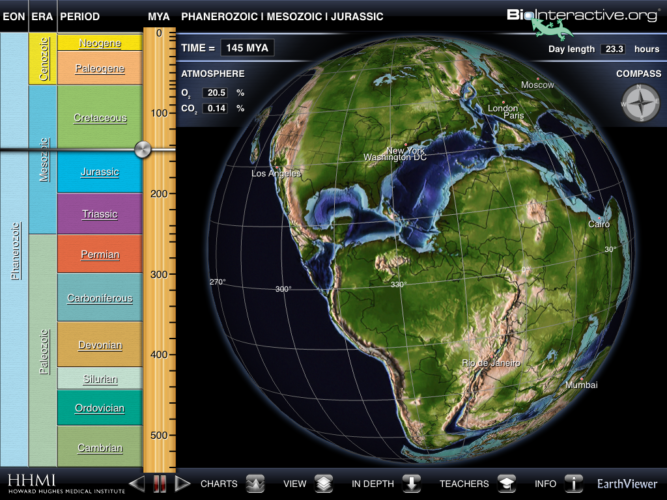 the earth viewer app from the howard Hughes medical institute
