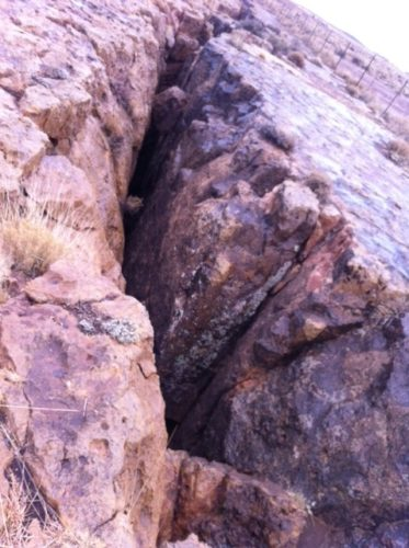mystery canyon formation in Luepp arizona march 2013
