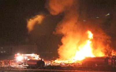 huge explosion in Hensen Utah