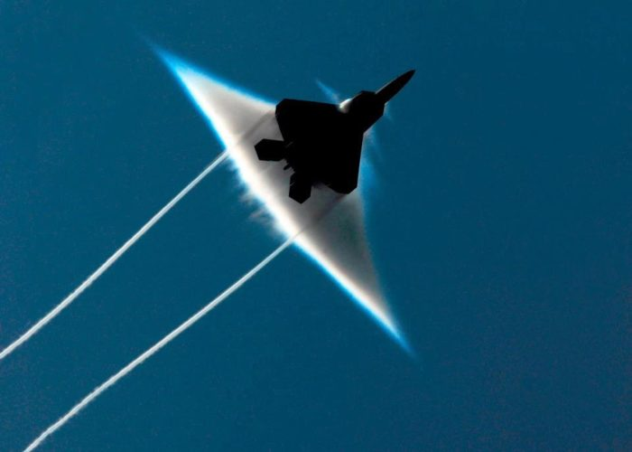 army jet passing the sound barrier photo
