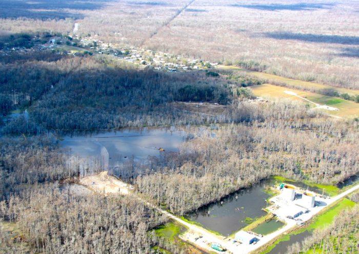 Bayou Corne Sinkhole flyover january 2013