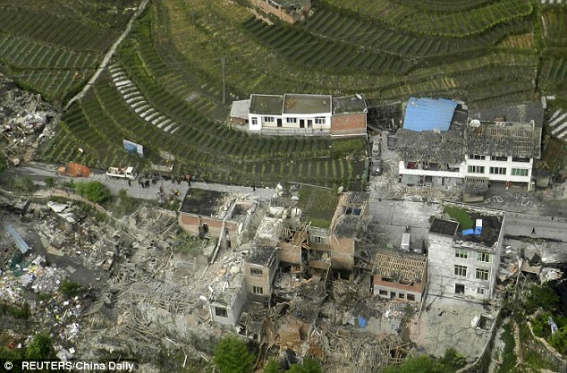 village collapses in china after massive earthquake april 2013