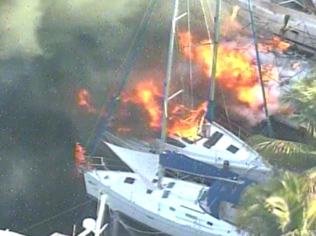 three boats explode in fort lauderdale folrida april 2013
