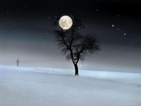 snow full moon is the full moon of febrary