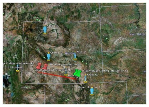 meteor, meteor explosion, meteor map, meteor sighting, meteor wyoming usa may 2013