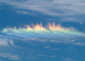 Fire rainbow in Toronton Canada