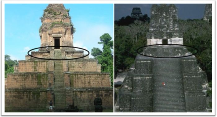 remarkable similarities between temples and pyramids across the pacific ocean
