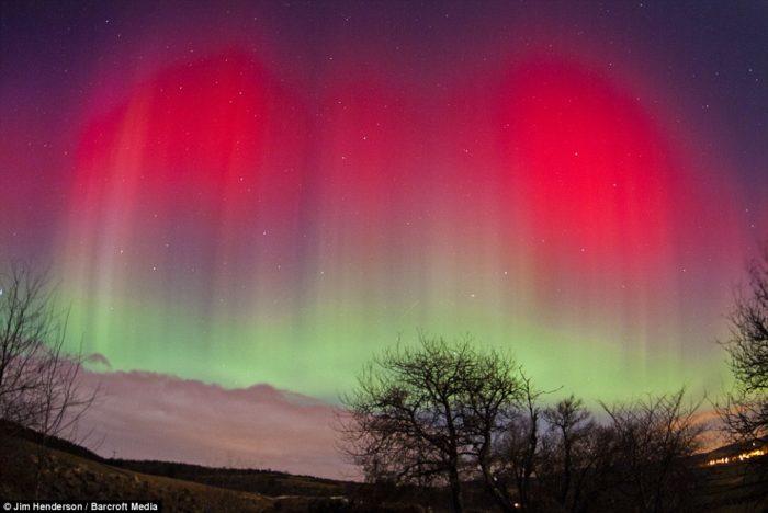 The Northern Lights in Aberdeen in Scottland