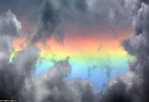 Fire rainbow over nepal