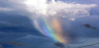 amazing Fire Rainbow over Scottland