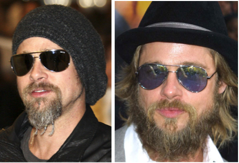 funny beard brad pitt