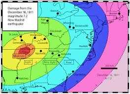 new Madrid Fault, Extent of damages after the 1811 New Madrid earthquake. Photo: Perdue University, earthquake new Madrid Fault, next earthquake new Madrid Fault, next catastrophic earthquake new Madrid Fault, when will new madrid fault explode?, earthquake new madrid fault