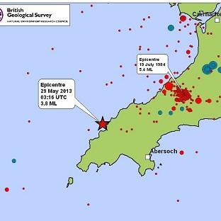 quake and tremors wales may 2013