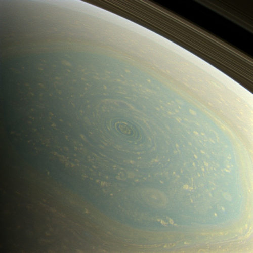 rare and mysterious weather phenomenon on Saturn, wonderful images of saturn hurricane