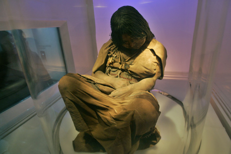 la doncella, la doncella mummy, the maiden, the maiden mummy, mummy of girl sacrified on volcano