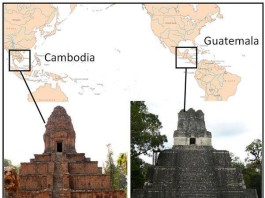 twin temples across pacific ocean, religion symmetry, symmetry of religion, weird architecture, temple of the masks, baskei temple, parallel architecture, Parallel Pyramids Across The Pacific, similar pyramids in different civilisation, pyramid mystery, unexplained earth, unexplained religion, mystery of pyramids, mystery of temple, temples in south america, temples in asia, symmetry of temples in asia and south america, sacred site symmetry, beliefs, sacred pyramids across the ocean, sacred architecture khmer temple baksei, guatemala temple of the masks,parallel between khmer and maya civilisation, parallel between khmer and maya cultures, remarkable similarities between temples and pyramids across the pacific ocean, parallel may and khmer religious temples