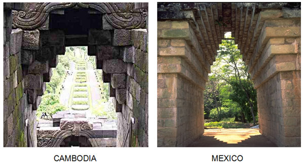 similarities between temples