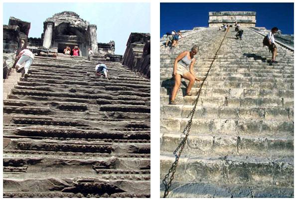 steep stairs pyramid