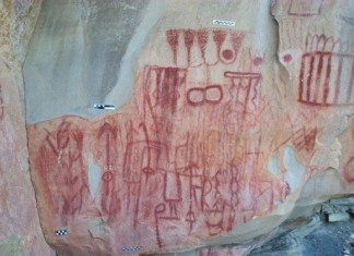 this photo released by the national institute of history and anthropology in mexico shows cave paintings found in the san carlos mountain range in the burgos municipality of the tamaulipas mexico, cave photo mexico, cave photo discovery mexico may 2013, cave photo,
