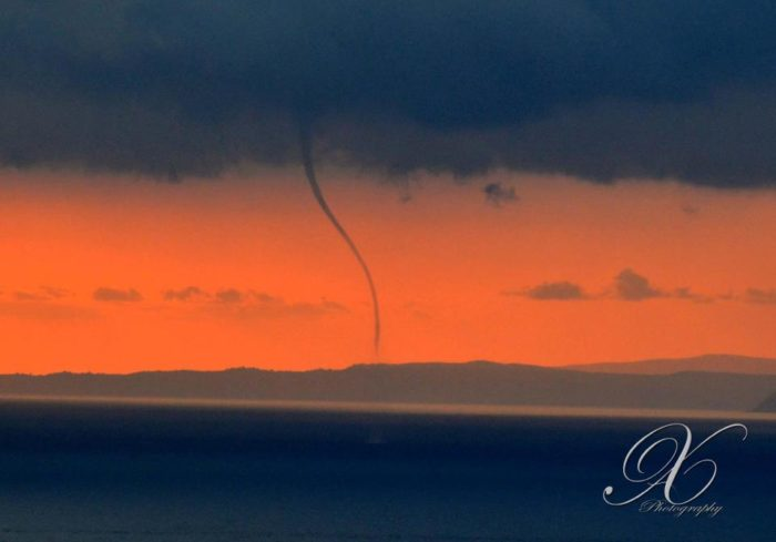 Waterspout off of Kefalonia Greece - May 8 2013
