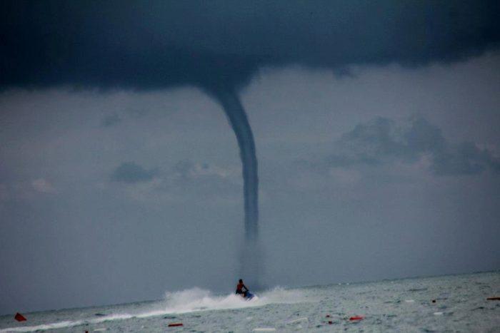 Waterspouts off of Kermer Turkey - May 13 2013