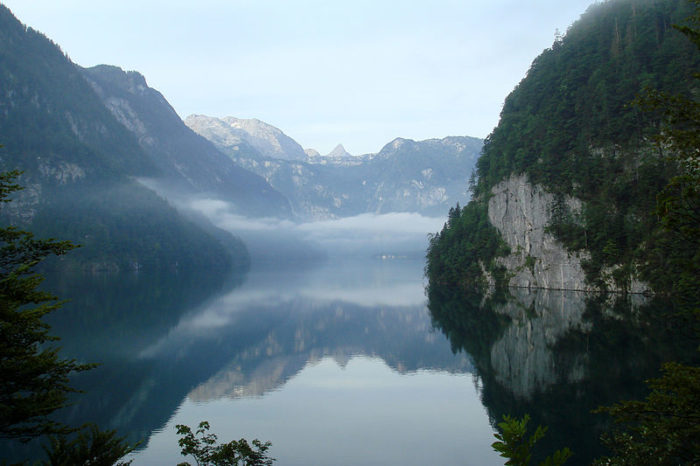 mirages over Konigssee in Bavaria