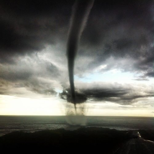 Waterspout Injidup beach right near Swings South Western Australia - May 16 2013