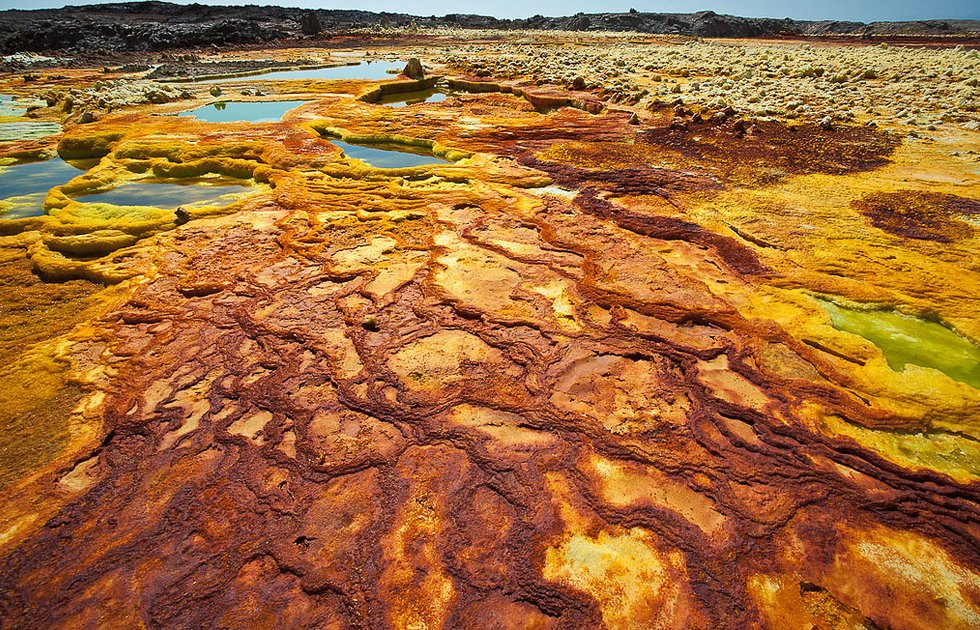 dallol, Dallol volcano, Dallol volcano picture, Dallol volcano video, dallol desert, dallol desert ethiopia, dallol volcano, dallol volcano in danakil desert ethiopia, hottest inhabited area on Earth, Dallol Volcano Ethiopia desert