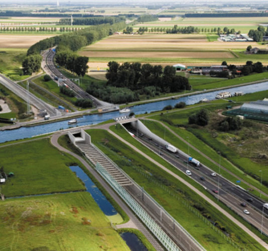 Dutch Stacked eco bridges for fishes the netherlands