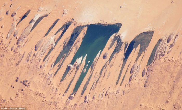 Ounianga Lakes in Sahara Desert in Chad