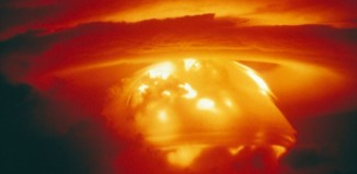 H-Bomb test explosion cloud at Bikini Atoll