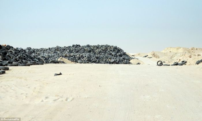 Tire dumps in Kuwait are environementaly disastrous
