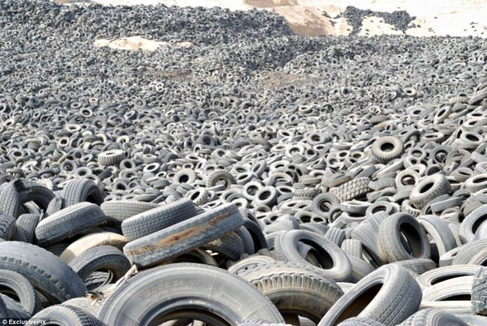 tyre dumps and tire graveyard in kuwait
