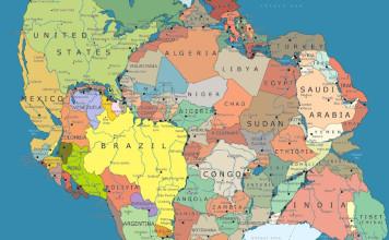 Pangea map, map of pangea with geopolitical boarders, geopolitics on pangea