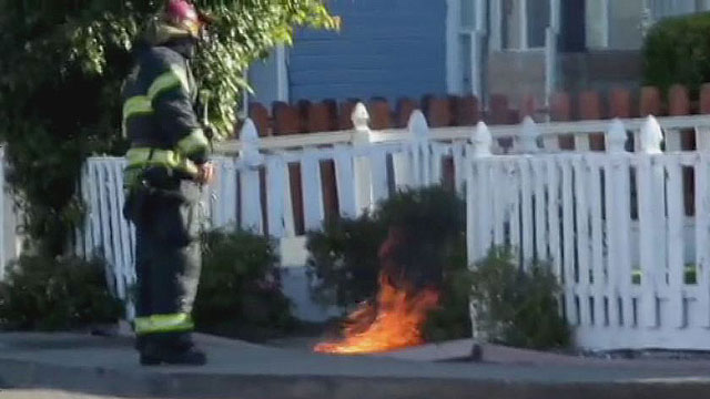 underground fire in VALLEJO California