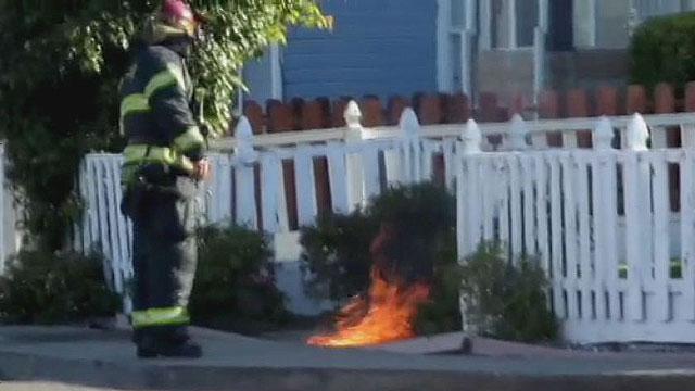 underground fire in VALLEJO California