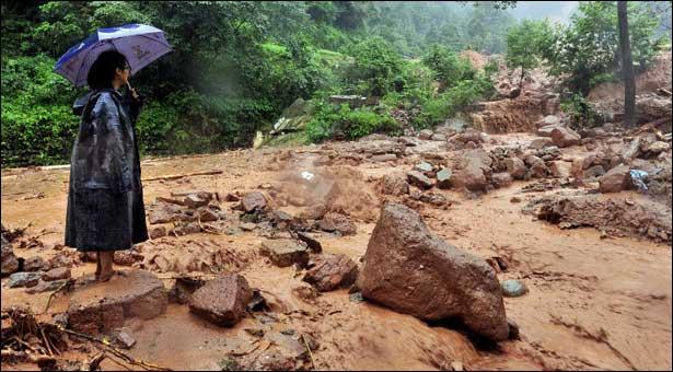 China landslide and mudslide july 2013