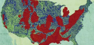 fracking and drinking water map: a map showing where fracking pollutes the most rivers in the usa