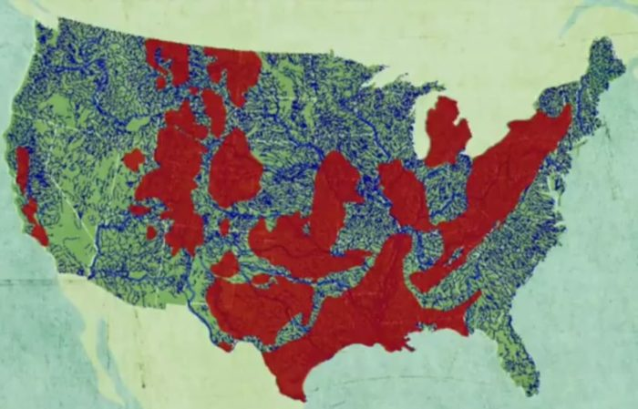 Fracking And Drinking Water Map In The US Strange Sounds - Us fracking map 2016
