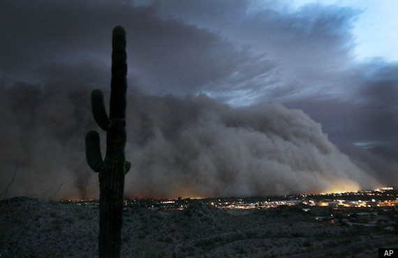 amazing timelapse of ARIZONA DUST STORM July 2013