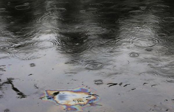 la rivière La chaudière est polluée par le crash du train à Lac-Mégantic, a layer of crude oil over the river 'La Chaudière' after train crash at Lac-Mégantic